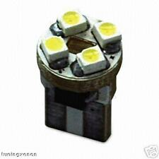 1 ampoule à 4 led smd blanc xenon en culot plat w5w
