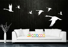 Wall Decor Decal Sticker Mural vinyl large birds nature  Wild Goose