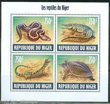 NIGER 2013 REPTILES OF NIGER TURTLE LIZARD, SNAKE  & CROCIDILE  SHEET  MINT NH