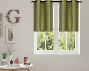 2 NATURE PRINTED GROMMET PANELS LINED BLACKOUT WINDOW CURTAIN DRESSING (FLORA)