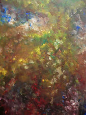 VINTAGE ABSTRACTION JOHN HILL, EXPRESSIONIST OIL ABSTRACT MODERNISM MODERN ART