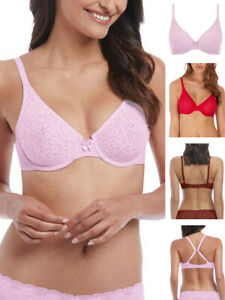 Wacoal Halo Lace Bra Full Cup 851205 Underwired Non Padded J Hook Lingerie