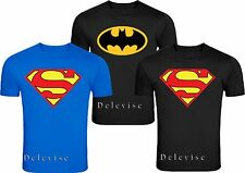 Batman & Superman shirt men's size Classic Logo Adult T-Shirt