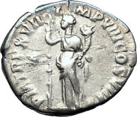 COMMODUS Son of Marcus Aurelius 192AD Ancient Silver Roman Coin Fortuna i73594