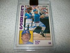 2017 TOPPS ARCHIVES 1984 O-PEE-CHEE RON CEY AUTOGRAPH #D/42 CHICAGO CUBS
