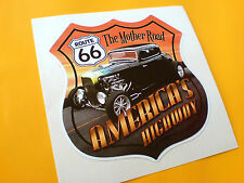 Americas Highway Route 66 Voiture Hot Rod Autocollant Sticker motorhome 1 off 85mm