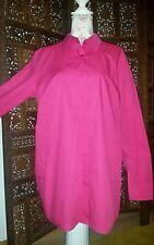 NEU  MARINA SPORT Marina Rinaldi Long-Bluse pink Cotton 44/46 ,eggshape 100%Co