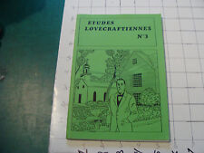 CHECK It Out--ETUDES LOVECRAFTIENNES #3 in French, 62 pgs plus covers cool ART