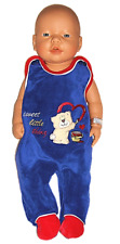 Süßer Baby-Strampler mit Bär, Nicki, blau, Gr. 50
