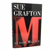 1st Edition/1st Printing SIGNED Fine/Fine M is For Malice Sue Grafton