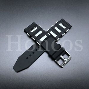 26mm Russian Diver silicon Rubber watch band strap Invicta Black Bullet strap