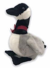 TY 2001 Plush Gray Black Duck Goose Stuffed Animal