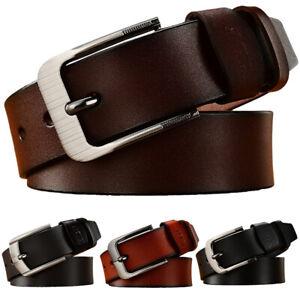 Unisex Belt Classic Stitched Microfiber Leather Dress Belts Adjustable Waistband