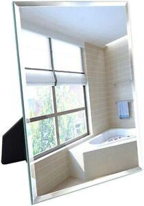 "Frameless Mirror Wall Hanging & Desk Standing Makeup Vanity Mirror 10.6""x13"""