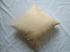"""NEW Jacquard Floral Square Diamond Cushion Cover Pastel Neon Peach 16"""" CLEARANCE"""
