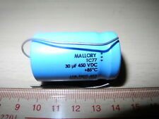 MADE IN USA MALLORY TC77 30uF 450V ELECTROLYTIC CAPACITOR