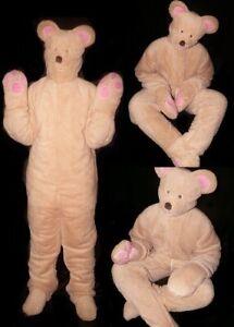 A13* Adult Baby Overall Onepiece Plüsch Material Kostüm Bär Costume bear