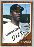 WILLIE McCOVEY SAN FRANCISCO GIANTS 1962 STYLE CUSTOM MADE BASEBALL CARD BLANK