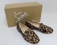CHRISTIAN LOUBOUTIN Ladies Tan Leopard Print Pony Hair Loafers Shoes EU36 UK3.5