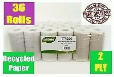 36 rolls, 200 sheet, 2 ply  Recycled Paper,  toilet roll