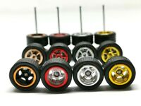 Hot Wheels 5 Spoke Rubber Tire  - 4 sets JDM (4 colors MIX) NEW ARRIVAL