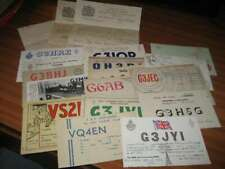 More details for small collection of amateur radio items 2 licences 1 letter 17 qsl cards 1950's