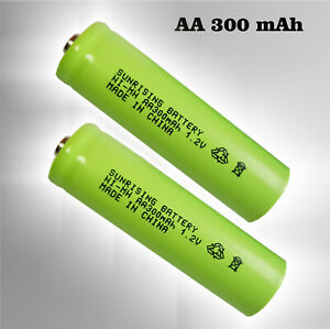 2 x Akku Ni-MH AA 300mAh 1,2V für SOLAR-Leuchten  Mignon Akkus Batterie LR06