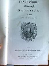Blackwood's Edinburgh Magazine Vol.LXX July-December 1851