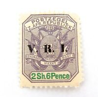 .TRANSVAAL SOUTH AFRICA c1901 2/6- VRI MH OVERPRINT STAMP.