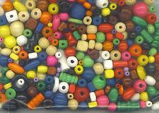 230 Holzperlen - bunt - Formen-Mix