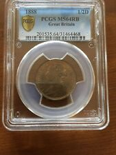 1888 GREAT BRITAIN 1/2D   PCGS MS64RB