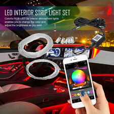 Multicolor Car LED RGB Interior EL Neon Strip atmosphere light APP Phone Control