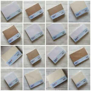 Craft UK envelope ONLY packs - white ivory kraft  - C5 DL 5x5 7x7 8x8 5x7 C6 6x6