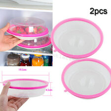 2PCS PlateTopper Universal Leftover Lid Microwave Cover Airtight keep food fresh