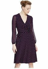 Polyester Spotted Wrap Dresses