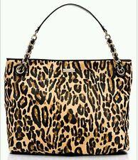 Kate Spade Streetcar Darya Leopard Calfhair NWT $1295 FUR Handbag SIENNA MILLER
