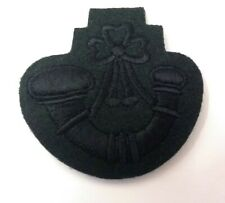 Genuine British Military Gurkha Issue Subdued Rifles Green Bugle Badge ASPS65