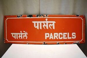 "Vintage Philately Post Office Parcels Sign Board Porcelain Enamel Collectibles""1"