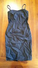 Black with Bronze back zip Dress cut out detail sz 8 BNWOT free post (E75,e78)