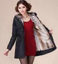 NEW Women Winter Warm Fur Thicken Coat Hood Parka Fashion Long Jacket Outwear