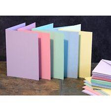 Craft UK En Blanco Sobres y tarjetas de felicitación-A6/C6 Tamaño Colores Pastel x 50