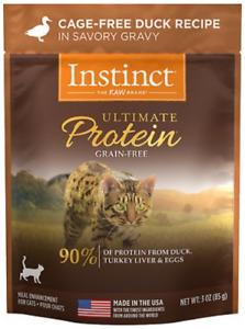 Instinct Ultimate Protein Grain Free Wet Cat Food Duck in Savory Gravy 24 pack