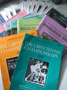 WIMBLEDON TENNIS PROGRAMMES, 100's available, select quantity & order. £8 each