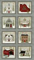 Snow Village Digitally Printed Panel by Beth Albert for Benartex 24in x 44in