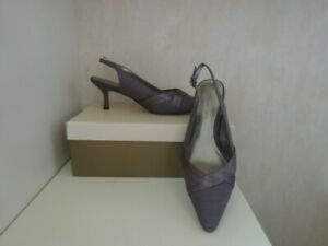 JACQUES VERT SLINGBACK   -BROWN SIZE 4 -NEW