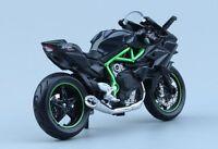 1:18 Motobike Kawasaki H2R Motorcycle Diecast Model Maisto W/Base Model Toy Gift