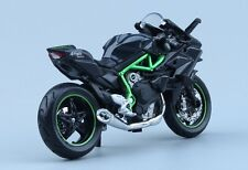 US 1:18 Kawasaki H2R Motorcycle Maisto Diecast Model W/Base Model Toy Kids Gift