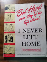 CLEARANCE!!  BOB HOPE's own story of his trip abroad magazine 1944 war comedy