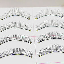 10Pairs Middle short Crisscross Natural  False Eyelash Handmade fake eye lashes