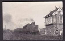 Nottinghamshire Notts Clipstone box loco 69311 goods train c1950/60s photograph
